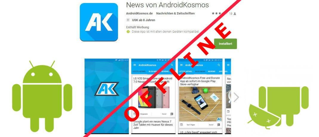 In eigener Sache: Android-App von AndroidKosmos.de offline 1