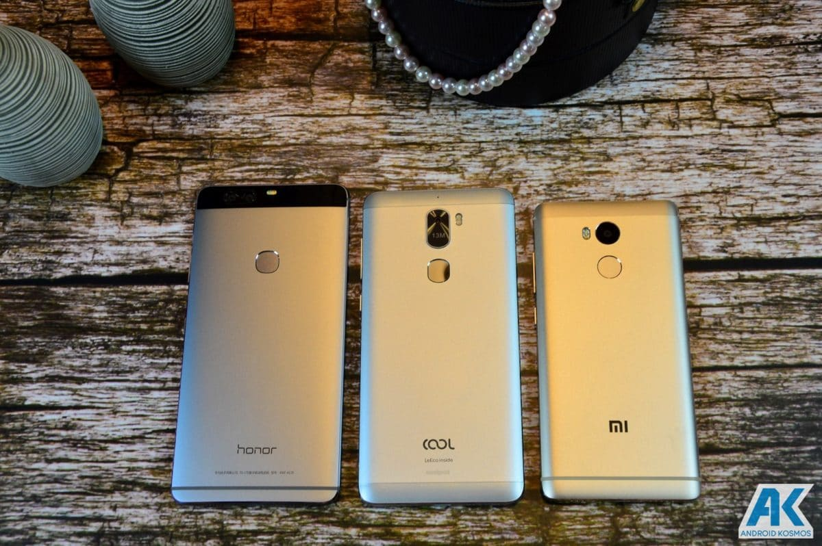 Honor V8 vs Coolpad 1C vs Redmi 4