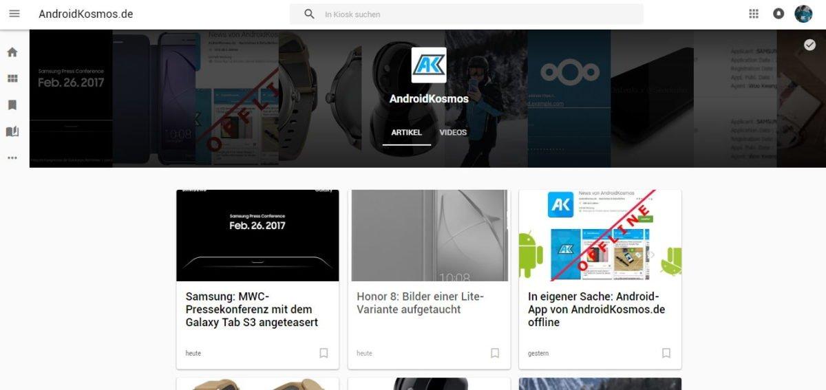 In eigener Sache: AndroidKosmos ab sofort im Google Play Kiosk 1