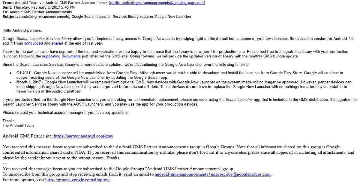 Google Now launcher 2
