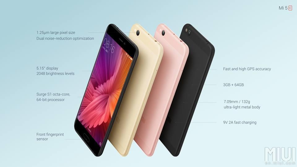 Xiaomi Mi 5c: erstes Smartphone mit eigenem Pinecone Surge S1 Prozessor vorgestellt 7