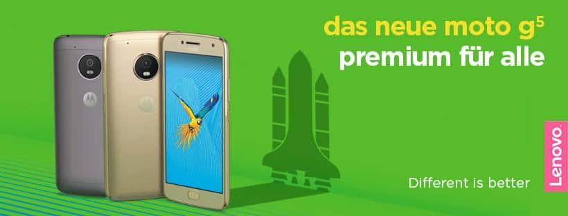 Moto G5: neues Smartphone offiziell vorgestellt #PremiumForAll 2