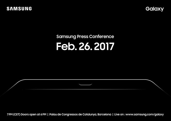 Samsung: MWC-Pressekonferenz mit dem Galaxy Tab S3 angeteasert