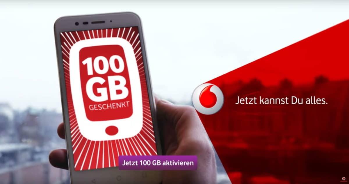 GigaBoost: 100GB Datenvolumen für alle Vodafone Kunden geschenkt 1