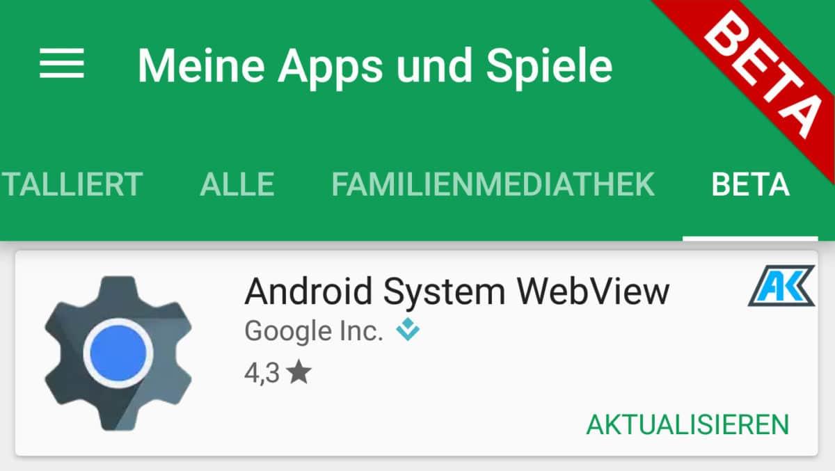 Eine Liste/Übersicht der Google Beta Android Apps im Play Store 3