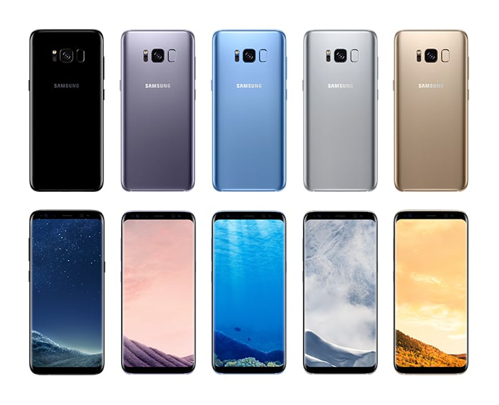 Galaxy S8 product colors back font 705