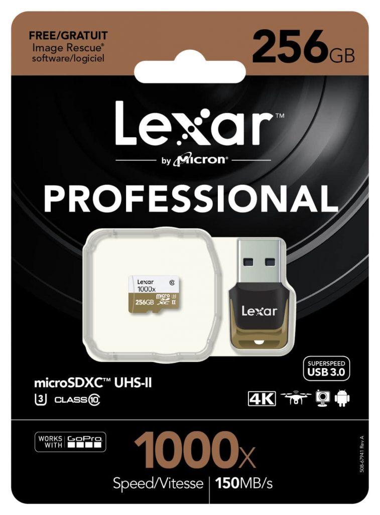 lexar pro 1000x microsd 256gb card reader pkg image nl 757x1024