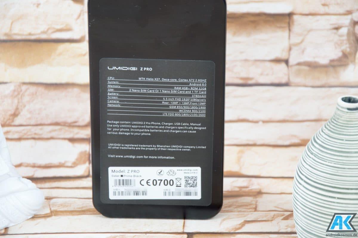 UmiDigi Z Pro Test: Smartphone nun auch mit Dual-Kamera 9