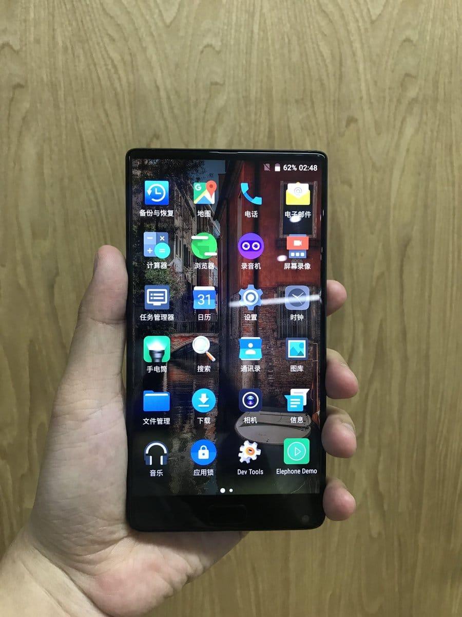 Elephone zeigt Prototyp eines randlosen Smartphones 3