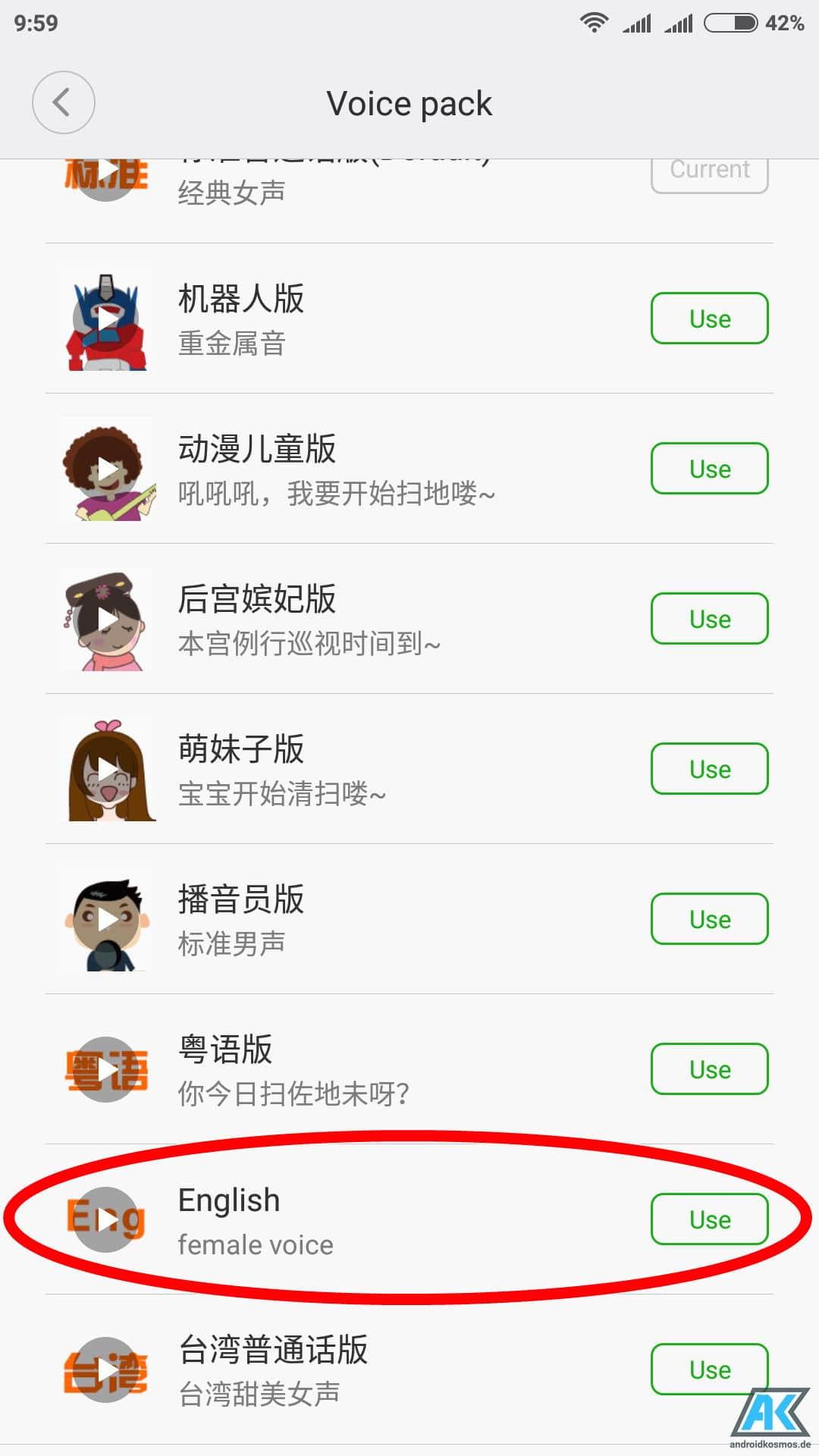 Anleitung: Xiaomi Mi Robot Vacuum Sprache auf Englisch umstellen 11