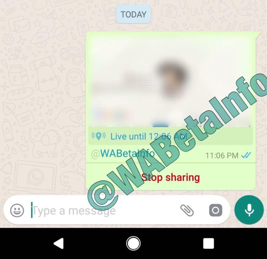 whatsApp livelocation 2