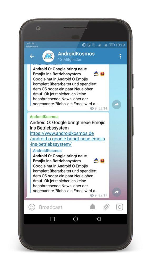 In eigener Sache: AndroidKosmos.de bei Telegram abonnieren 4