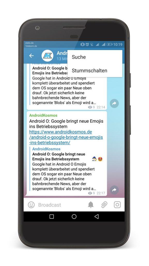 In eigener Sache: AndroidKosmos.de bei Telegram abonnieren 5