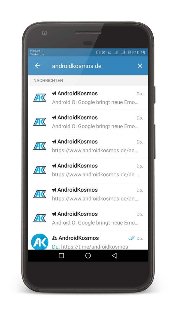 In eigener Sache: AndroidKosmos.de bei Telegram abonnieren 3