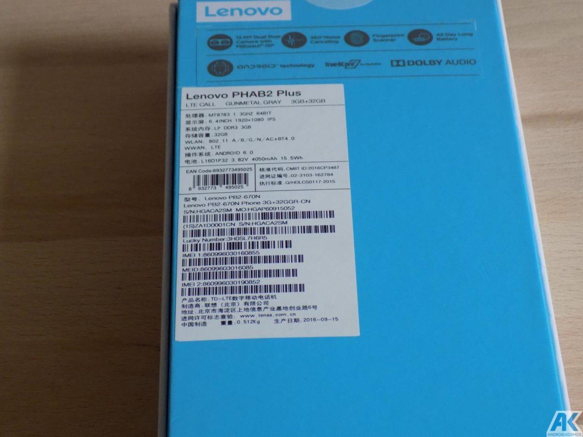 Lenovo Phab2 Plus Test: Eigenes Monster Phablet mit großen Akku 6