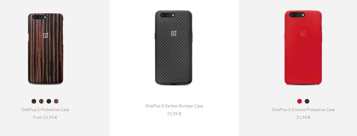 OnePlus 5 Zubehör: Cases - Hüllen aus Sandstone, Karbon, Holz oder Flipcovers 3