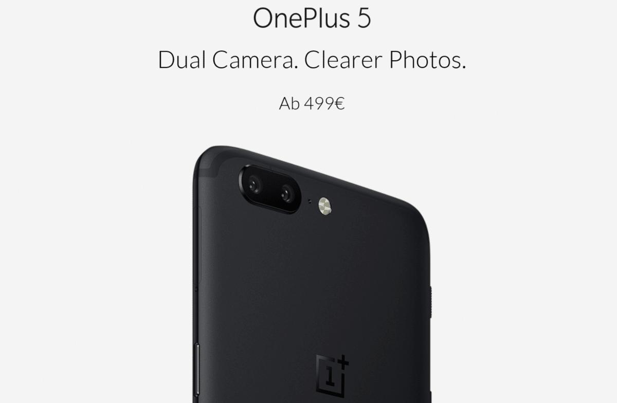 Oneplus 5 Price Tag