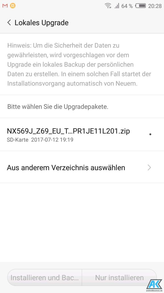 Anleitung/HowTo: Nubia Z17 Mini (NX569J) – TWRP Recovery, Global Rom und Root flashen 13