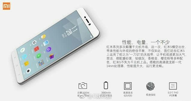 Xiaomi Redmi 5:offizielle Bilder, technische Daten und Preise geleakt 3