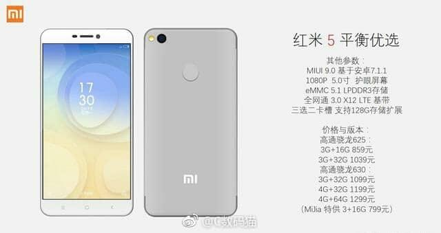 Xiaomi Redmi 5:offizielle Bilder, technische Daten und Preise geleakt 4