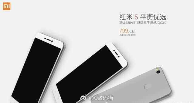 Xiaomi Redmi 5:offizielle Bilder, technische Daten und Preise geleakt 1