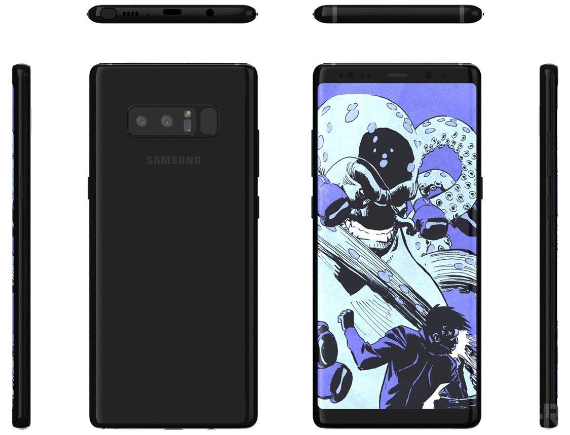 Samsung Galaxy S8 Note: erste Renderbilder und offizielle Vorstellung am 23. August 1