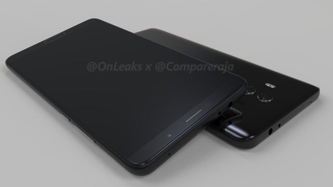 Huawei Mate 10: Erste Renderbilder und es soll eine Varianten mit Full-Screen Display geben 4