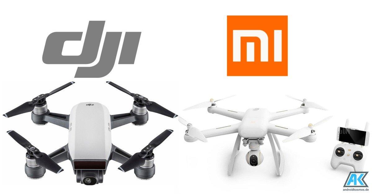 Angebot: Dronen aktuell zum Bestpreis nur bei Gearbest - DJI Spark RTF und Xiaomi Mi Drone 4K 1