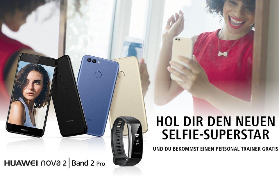 Huawei Band 2 Pro: Fitnesstracker mit GPS gratis zum Huawei Nova 2 2