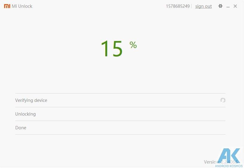 Xiaomi Tutorial Teil 1 - Bootloader Unlock für Xiaomi Smartphones 5
