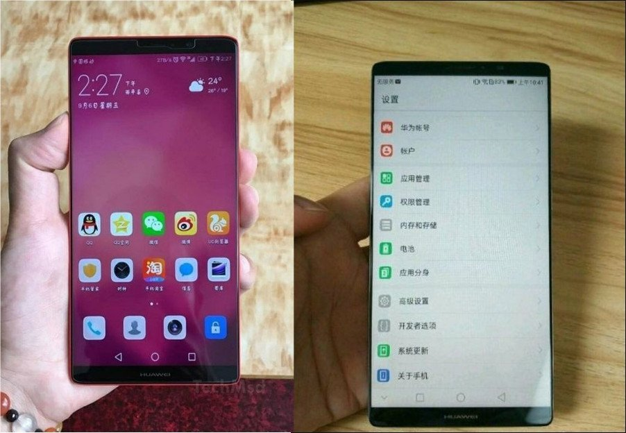 Huawei Mate 10: Erste Renderbilder und es soll eine Varianten mit Full-Screen Display geben 10