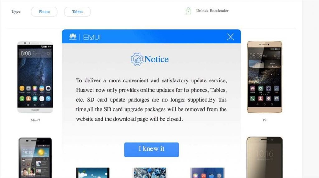 huawei entfernt EMUI Roms von Webseite 1024x573