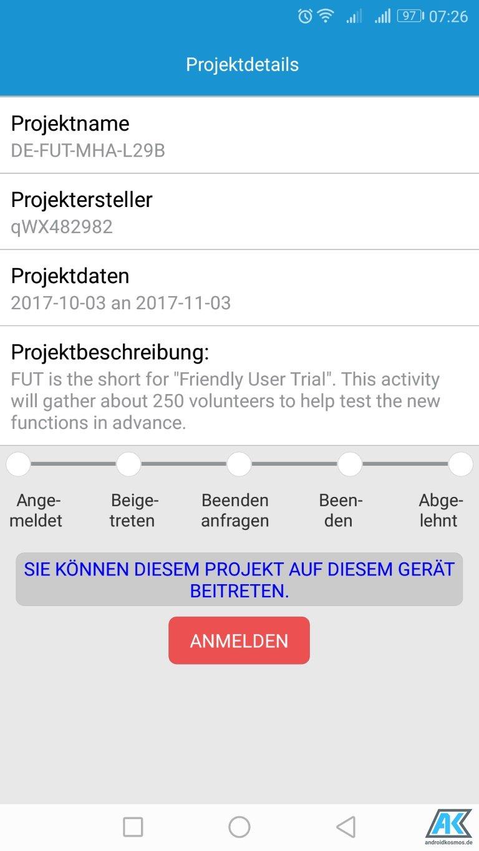 Huawei Mate 9: Anmeldung zum Beta-Programm für Android 8.0 Oreo möglich 6