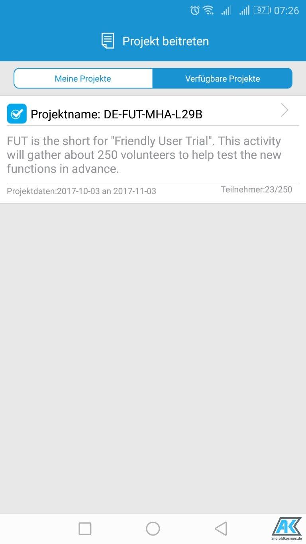 Huawei Mate 9: Anmeldung zum Beta-Programm für Android 8.0 Oreo möglich 2