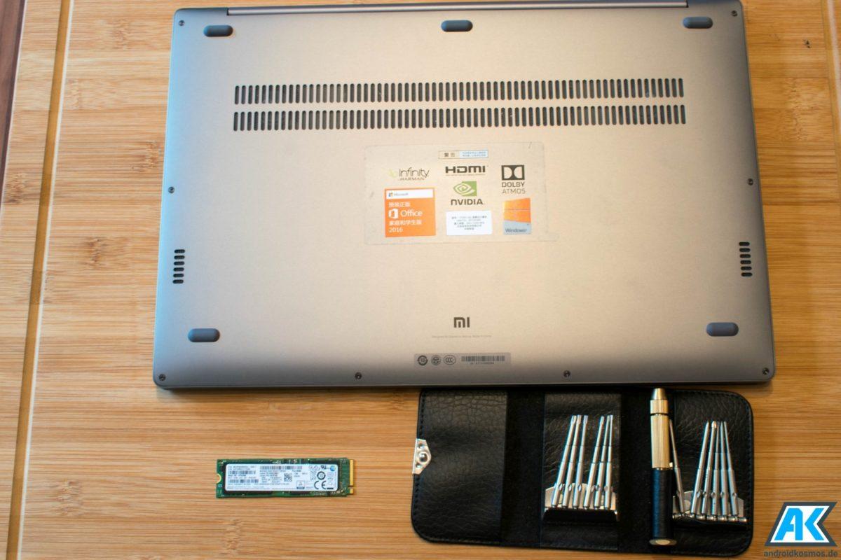 Xiaomi Mi Notebook Pro 15.6: Anleitung SSD austauschen oder erweitern 3