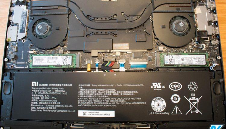 Xiaomi Mi Notebook Pro 15.6: Anleitung SSD austauschen oder erweitern 1
