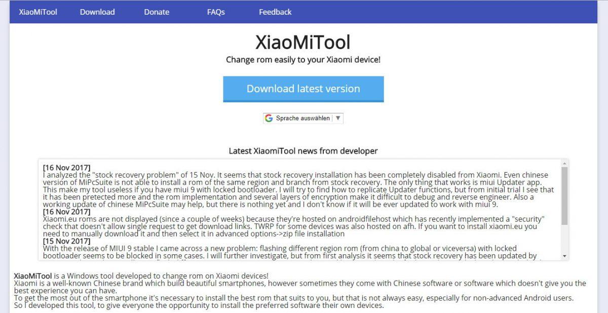 Anleitung]: XiaoMiTool ist ein einfaches Tool zum Xiaomi ROMs flashen
