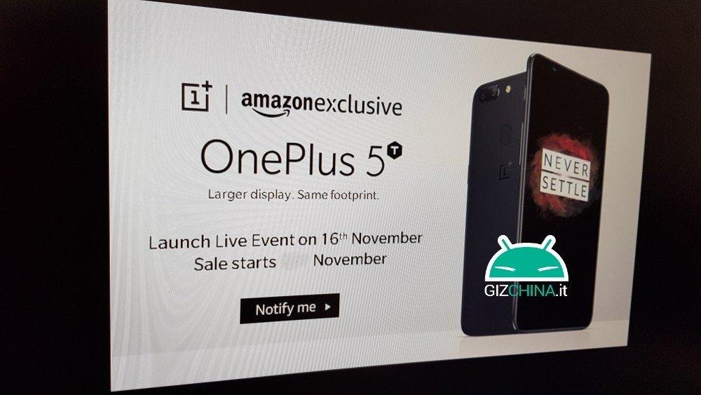 OnePlus 5T: Vorstellung des neuen Smartphones am 16. November 2