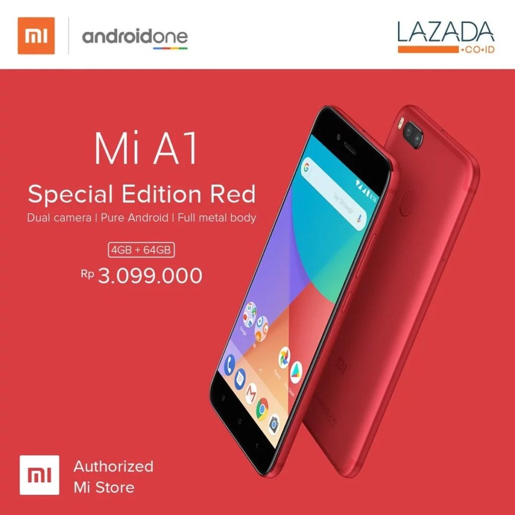 mi a1 special edtion red