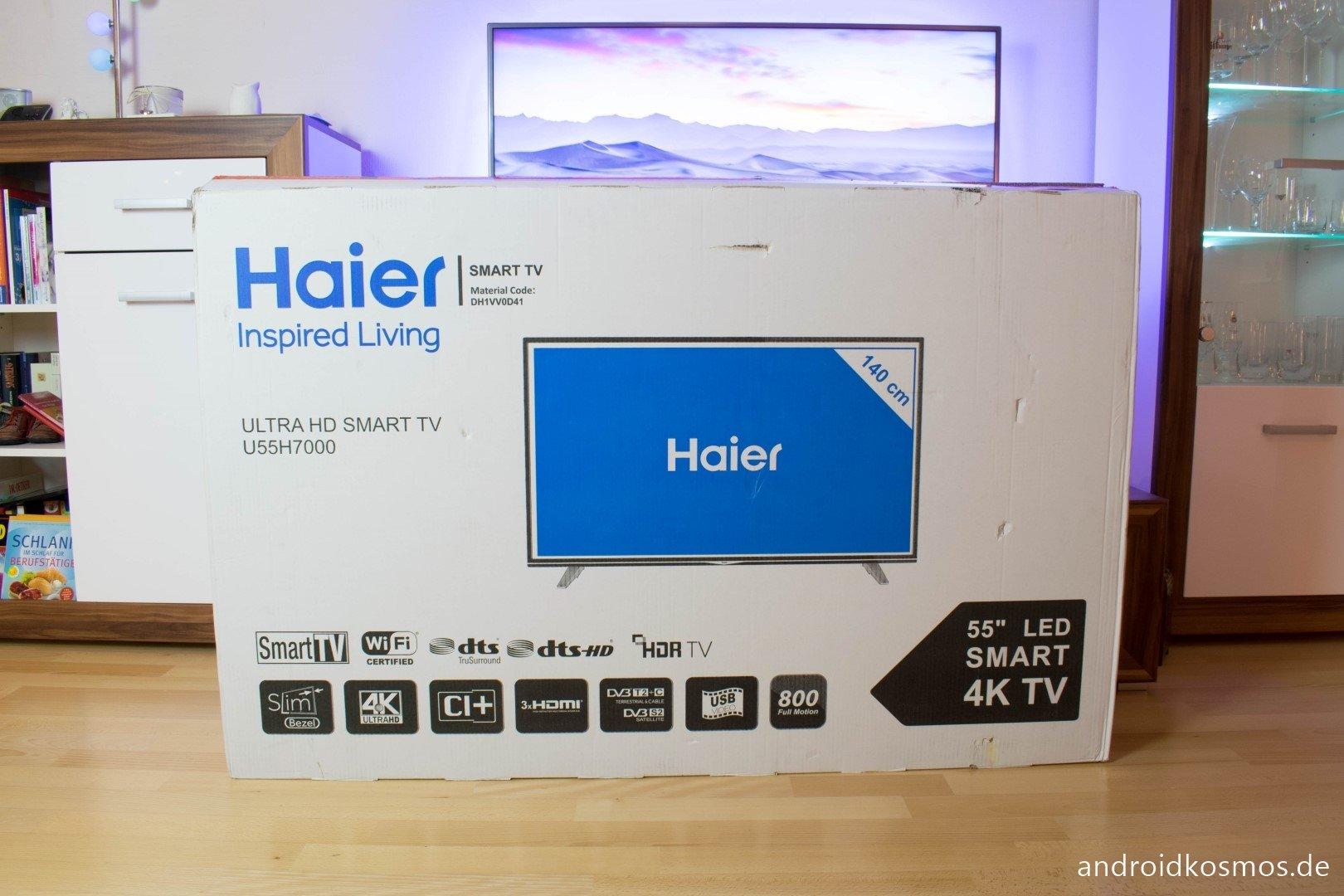 haier u55h7000 tv der g nstige 55 zoll 4k fernseher im test. Black Bedroom Furniture Sets. Home Design Ideas