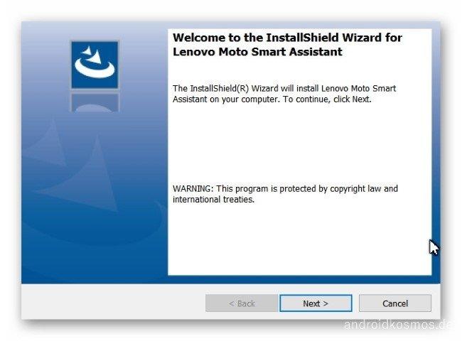 Ashampoo Snap Dienstag 6. Februar 2018 20h54m13s 001 Lenovo Moto Smart Assistant InstallShield Wizard