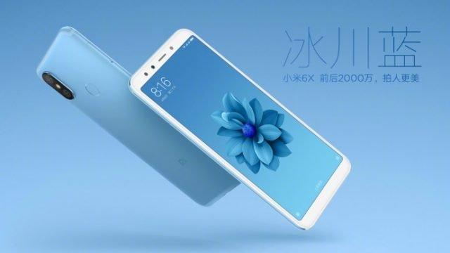 Xiaomi Mi 6X Glacier Blue 640x360
