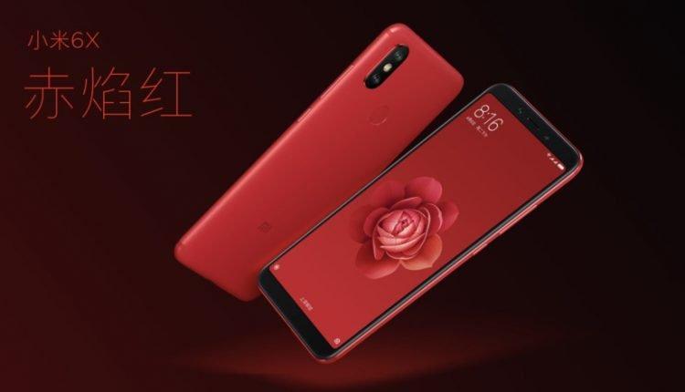 Das Xiaomi Mi 6X im schicken Rot