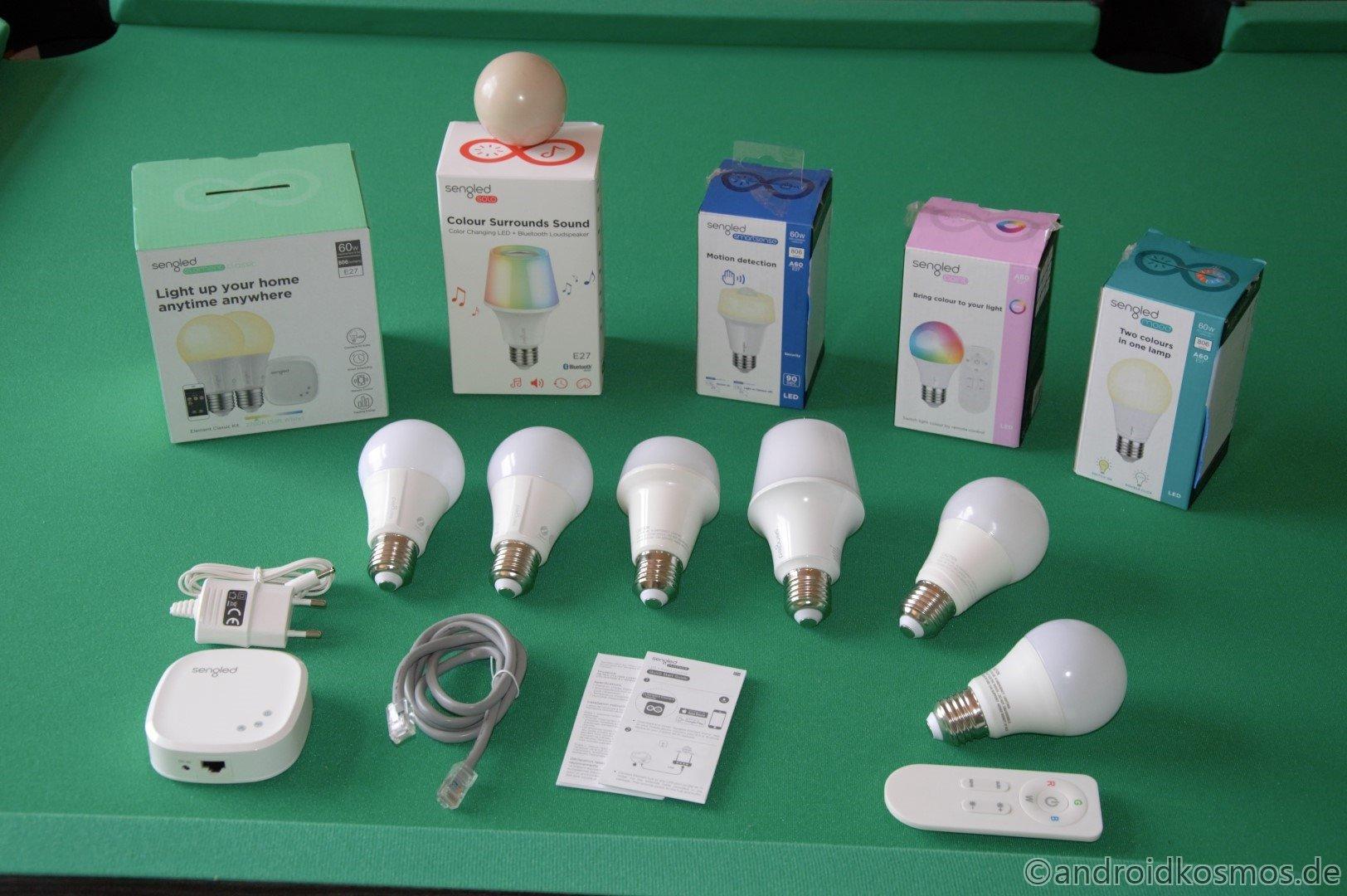 Sengled Starter Kit und Birnen im Test - Es werde Licht