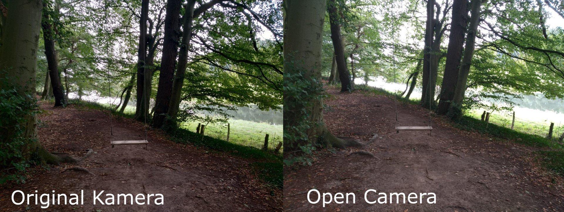 Original vs OpenCamera